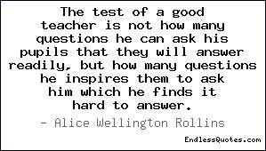 a good teacher asks questions