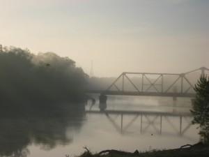bridge on the way to Trinity, Texas by Helen Teague