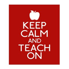 keepcalm teach on