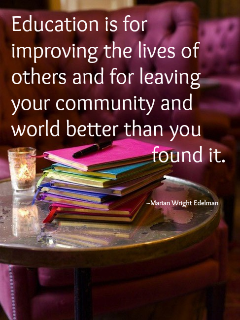 Educational quote by Marian Wright Edelman