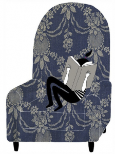 bookandgirlinbigchair