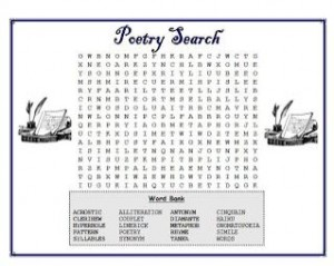 poetry word search