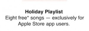 apple holiday album giveaway
