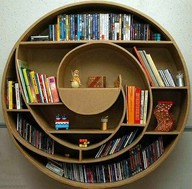 circle book shelf
