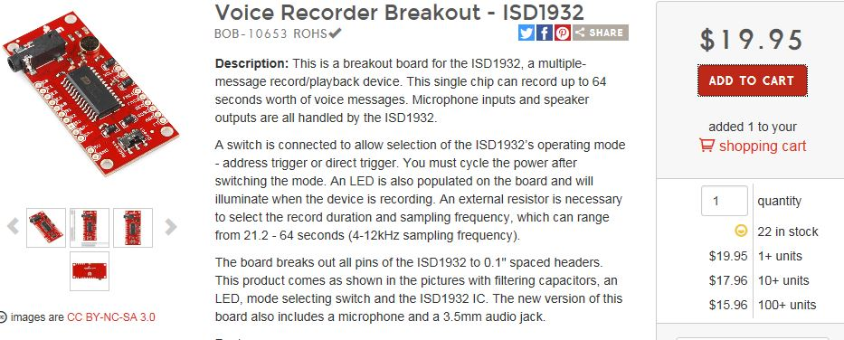 Voice Recorder Breakout