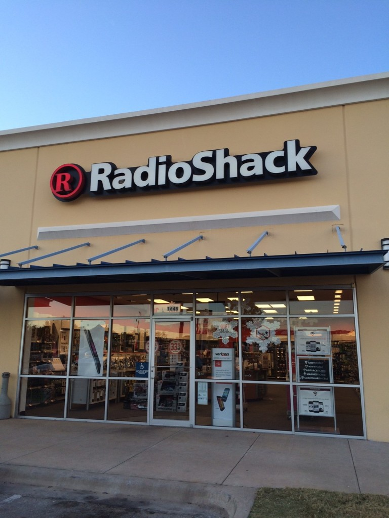 Radio Shack at Twilight on Planet Earth
