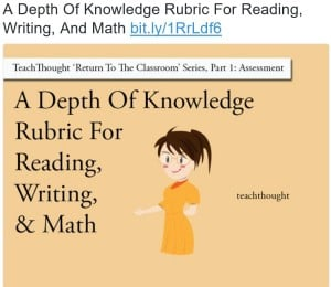 DOK Reading Rubric from TeachThough