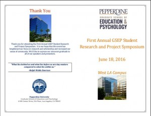 GSEP Student Research Symposium