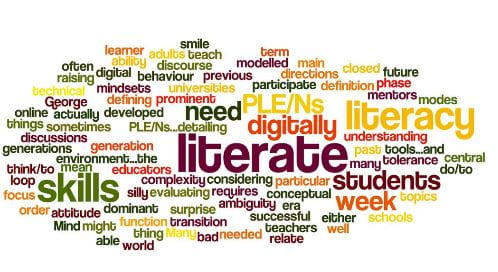Literate Word Cloud by A.C.