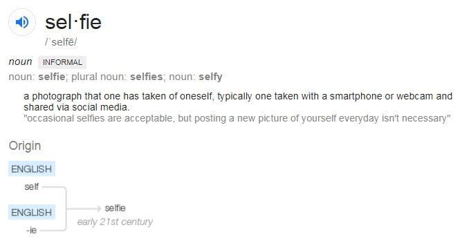 Selfie of Selfie