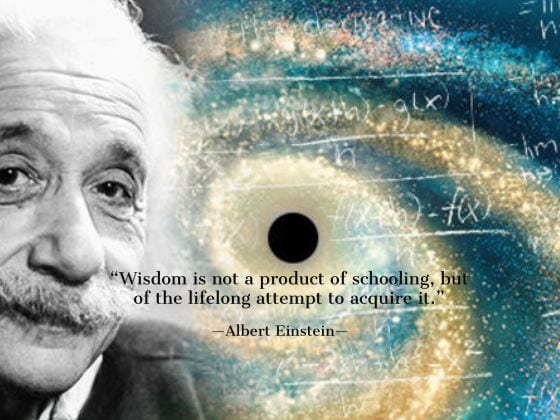 Wisdom Quote by Einstein