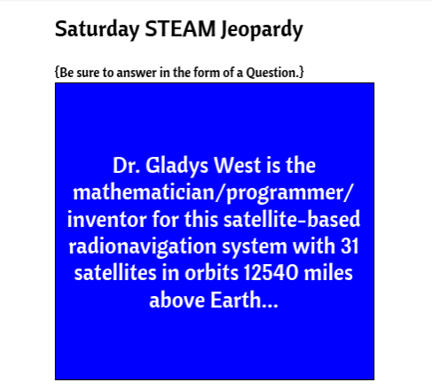SaturdaySTEAMJeopardyTeague