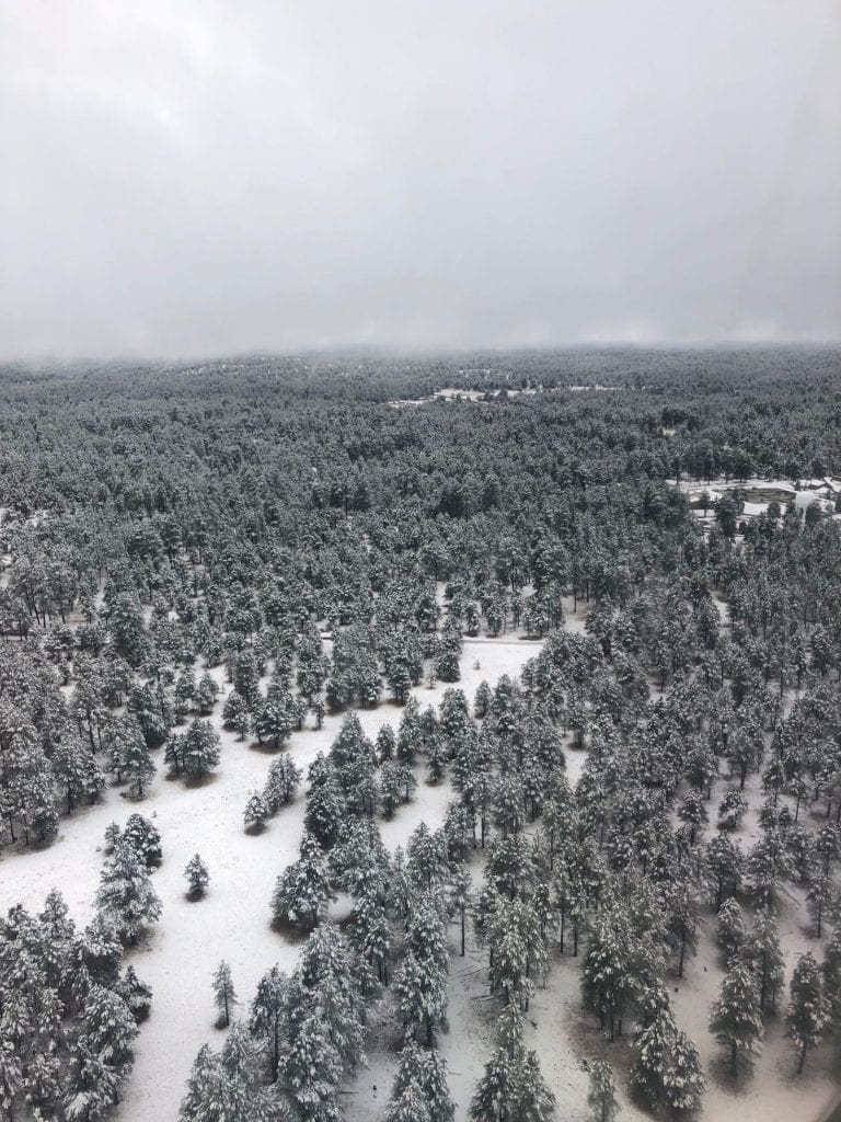 Snow Aerial View